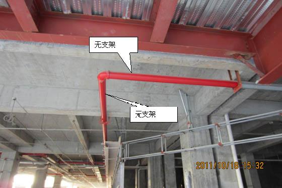 技术质量纠错项:管道支架设置不合理